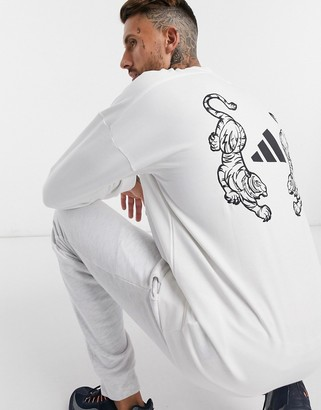 adidas Sweatshirt With Badge Of Sports Logo In White