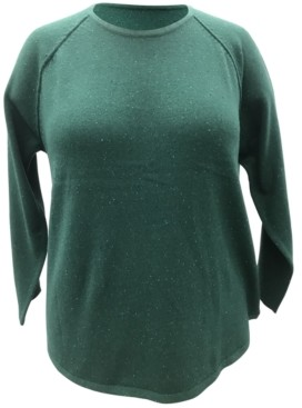 Karen Scott Plus Size Curved-Hem Sweater, Created for Macy's