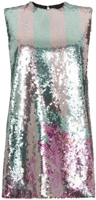 Halpern Sequin Embellished Mini Dress