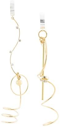 Mounser Asymmetric Drop Earrings