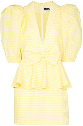 Rotate by Birger Christensen Johanna gingham mini dress