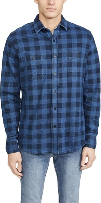 Faherty Buffalo Knit Seasons Flannel Shirt
