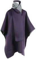 Carolina Herrera Purple Wool Coat for Women