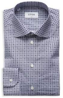 Eton Slim-Fit Printed Cotton Poplin Dress Shirt