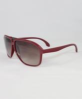 Calvin Klein Deep Red & Burgundy Gradient Sunglasses - Women