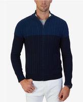 Nautica Men's Two-Tone Full-Zip Sweater