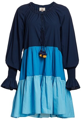 Figue Bella Colorblock Peasant Dress