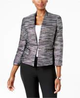 Kasper Metallic Tweed Blazer