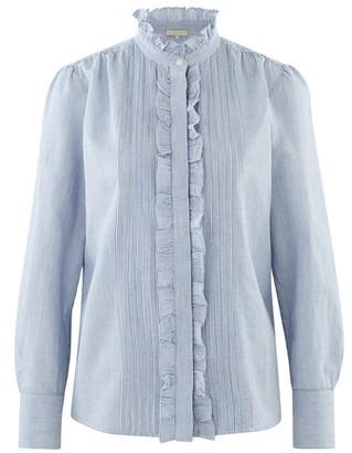 Cotton striped Nicolas blouse