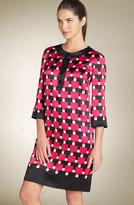 Button Front Silk Dress