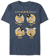 Fifth Sun Tee Shirts NAVY - Navy Heather Mickey Mouse Kung Fu Tee - Adult