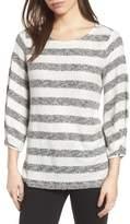 Chaus Diamond Marled Knit Stripe Sweater