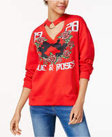 Freeze 24-7 Juniors' Mickey & Minnie Choker Sweatshirt