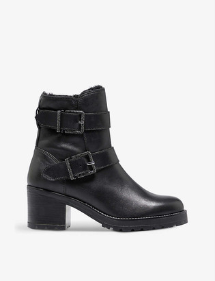 Dune Portrait leather ankle boots