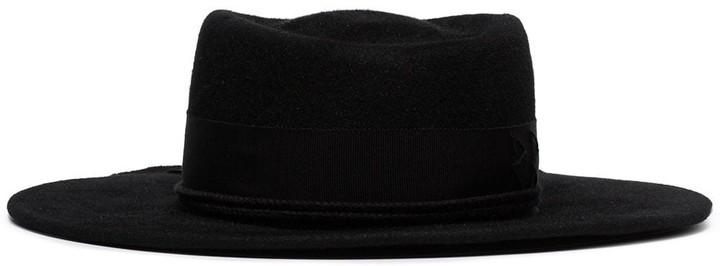 Ruslan Baginskiy Ribbon-Trim Fedora Hat