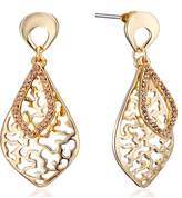 Gemini Women's Antique Style 18K Gold Plated Drop Earrings Vintage Look Gm139 , Size: 55mm , Color: