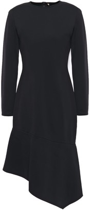 Black Halo Maddox Asymmetric Stretch-jersey Dress