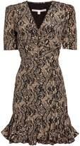 Veronica Beard Ried Python-Printed Mini Dress