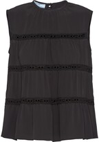 Prada flared tiered top