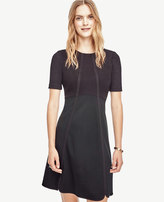 Ann Taylor Ponte Flare Dress