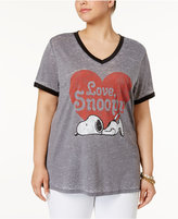 Mighty Fine Trendy Plus Size Cotton Snoopy Graphic T-Shirt
