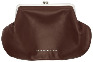 Victoria Beckham Burgundy Snap Pocket Clutch
