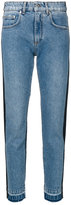 MSGM denim Two Tone straight leg jeans - women - Cotton/Polyester - 40