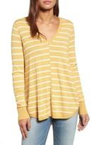 Petite Women's Caslon High-Low V-Neck Sweater