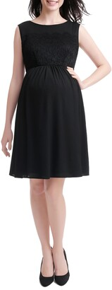 Kimi and Kai Sade Lace & Mesh Maternity Dress