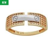 Revere 9ct Gold Cubic Zirconia Screw Ring