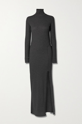 Twenty Montreal Everest Stretch-knit Turtleneck Maxi Dress - Dark gray