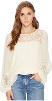 Kensie Crepe Chiffon Long Sleeve Top KS0K4329 Women's Clothing