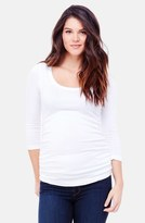 Ingrid & Isabel Ruched Maternity Top