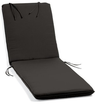 Beachcrest Home Indoor/Outdoor Sunbrella Chaise Lounge Cushion Fabric: Black