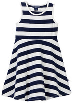 Toobydoo Ibiza Wide Striped Skater Dress (Toddler, Little Girls, & Big Girls)