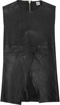 OAK Split-front leather top