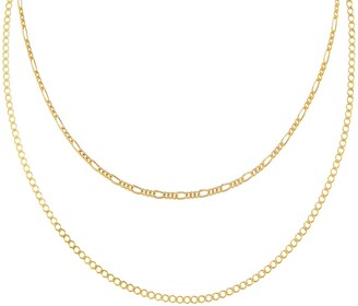 Adina's Jewels Figaro Layered Chain Necklace