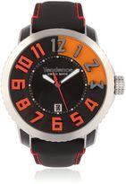 Tendence 3h Steel Black & Orange Watch