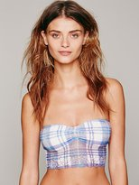 Free People Private Arts Tartan Longline Bandeau