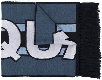DSQUARED2 Fringed Logo Scarf