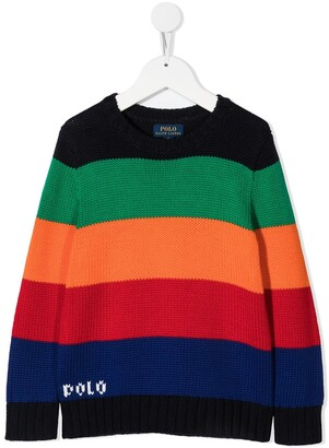 Ralph Lauren Kids Colour-Block Jumper