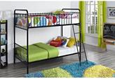DHP Black Brickmill Iron Twin over Twin Bunk Bed