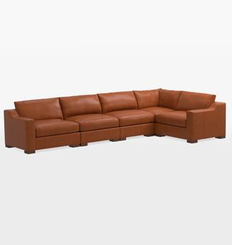 Rejuvenation Sublimity Studio 5-Piece Leather Sectional Sofa