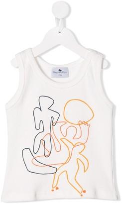 Raspberry Plum TEEN Skate doodle-print tank top