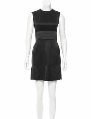 Chanel Belted Silk Dress Black