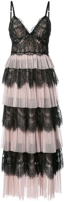 Marchesa Ruffle Lace Dress
