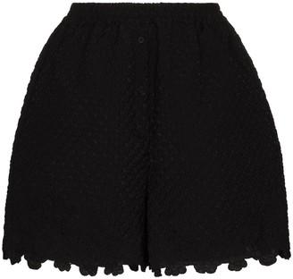 Cecilie Bahnsen Kim scalloped-edge shorts