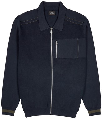 Paul Smith Navy knitted cotton jumper