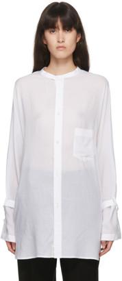 Regulation Yohji Yamamoto White Tencel Shirt