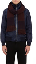 Rag & Bone Men's Striped Merino Wool Scarf-BURGUNDY